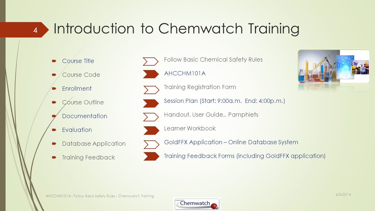 Introduction to Chemwatch Training
