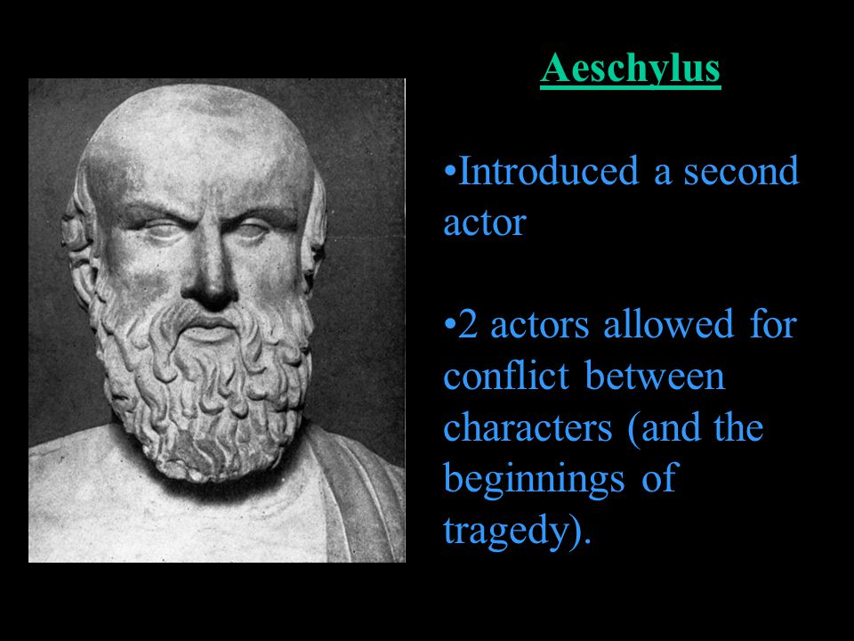 Aeschylus Introduced a second actor.