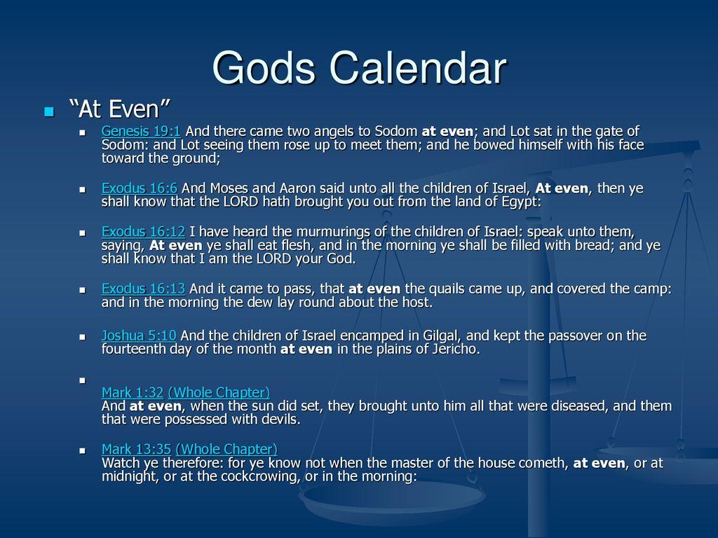 Seven Sabbaths Part 1 Gods Calendar  - ppt download
