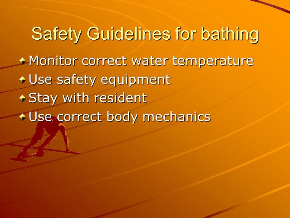 Safety Guidelines for bathing