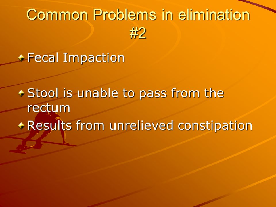 Common Problems in elimination #2