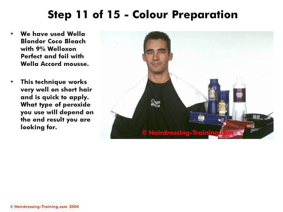 Step 11 of 15 - Colour Preparation