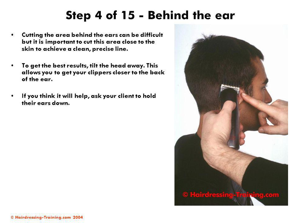 Step 4 of 15 - Behind the ear