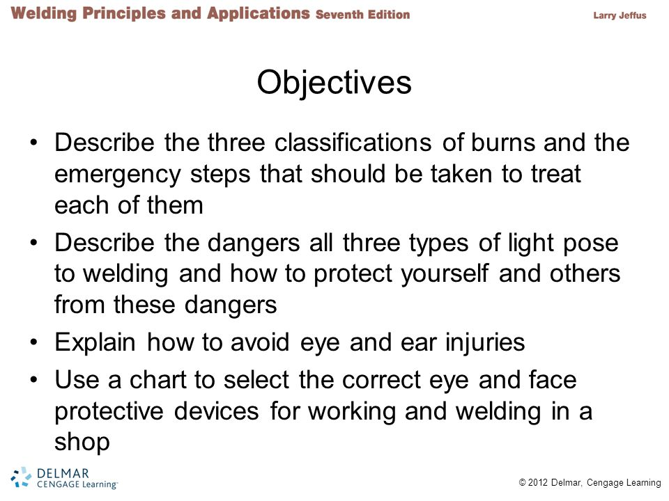 Objectives Describe the three classifications of burns and the emergency steps that should be taken to treat each of them.
