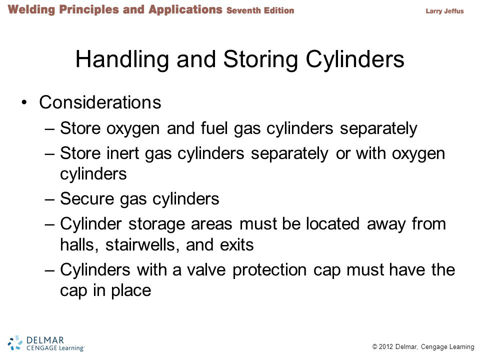 Handling and Storing Cylinders