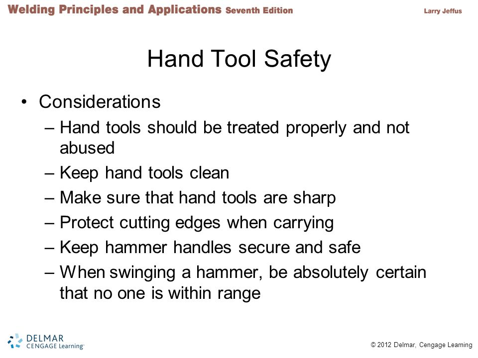 Hand Tool Safety Considerations