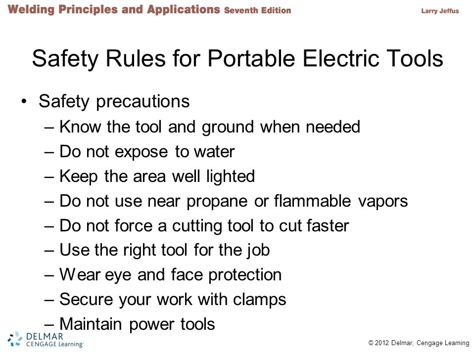 Safety Rules for Portable Electric Tools