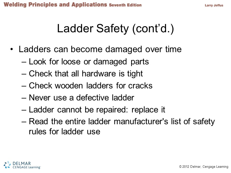 Ladder Safety (cont'd.)