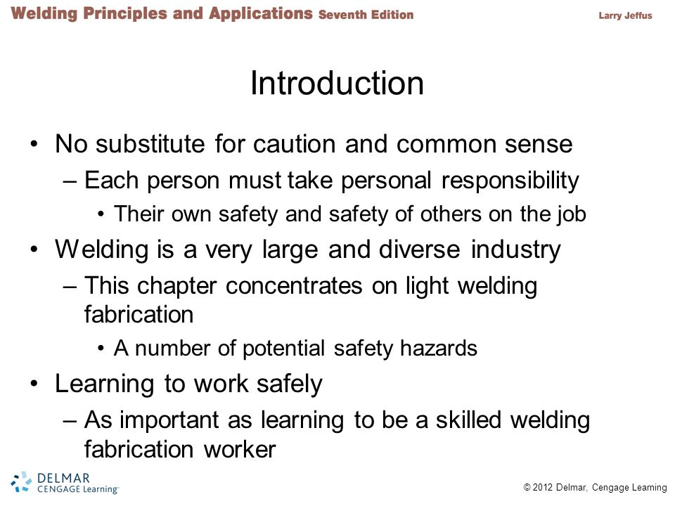 Introduction No substitute for caution and common sense