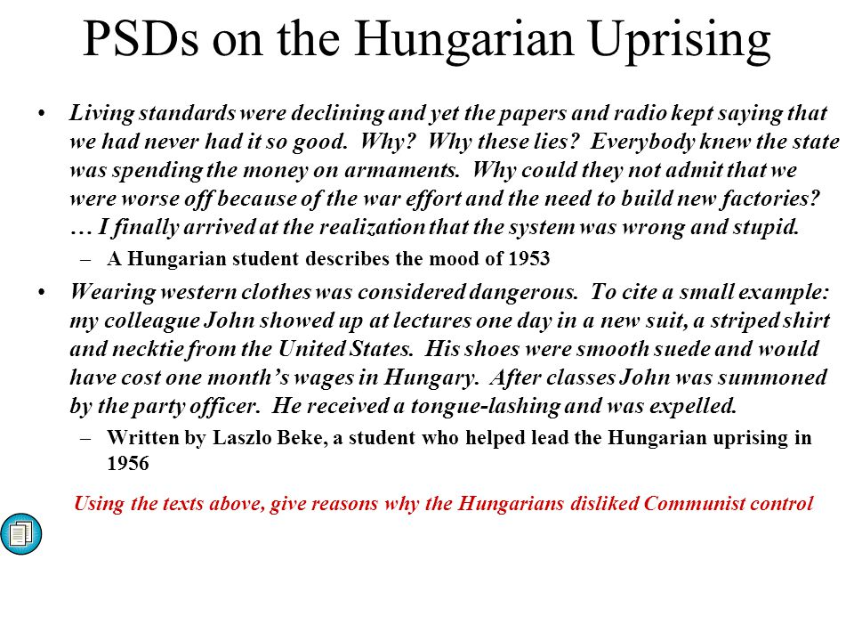 PSDs on the Hungarian Uprising