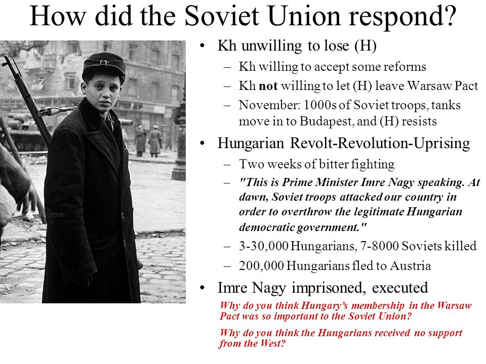 How did the Soviet Union respond