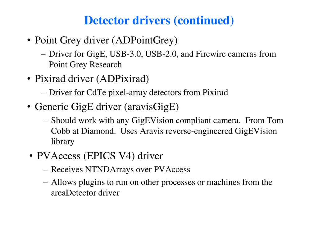 areaDetector: A module for EPICS area detector support - ppt download