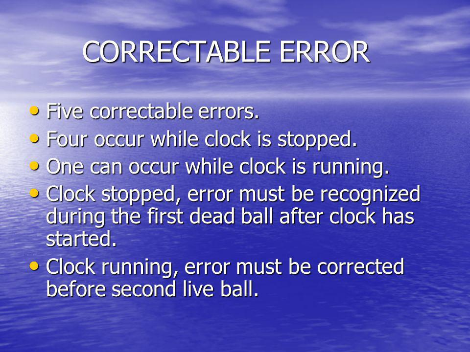 CORRECTABLE ERROR Five correctable errors.