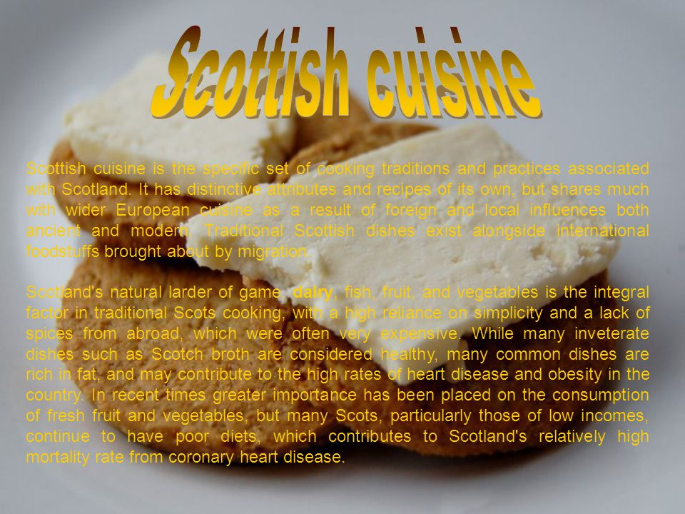 Scottish cuisine