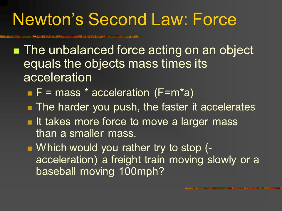 Newton's Second Law: Force