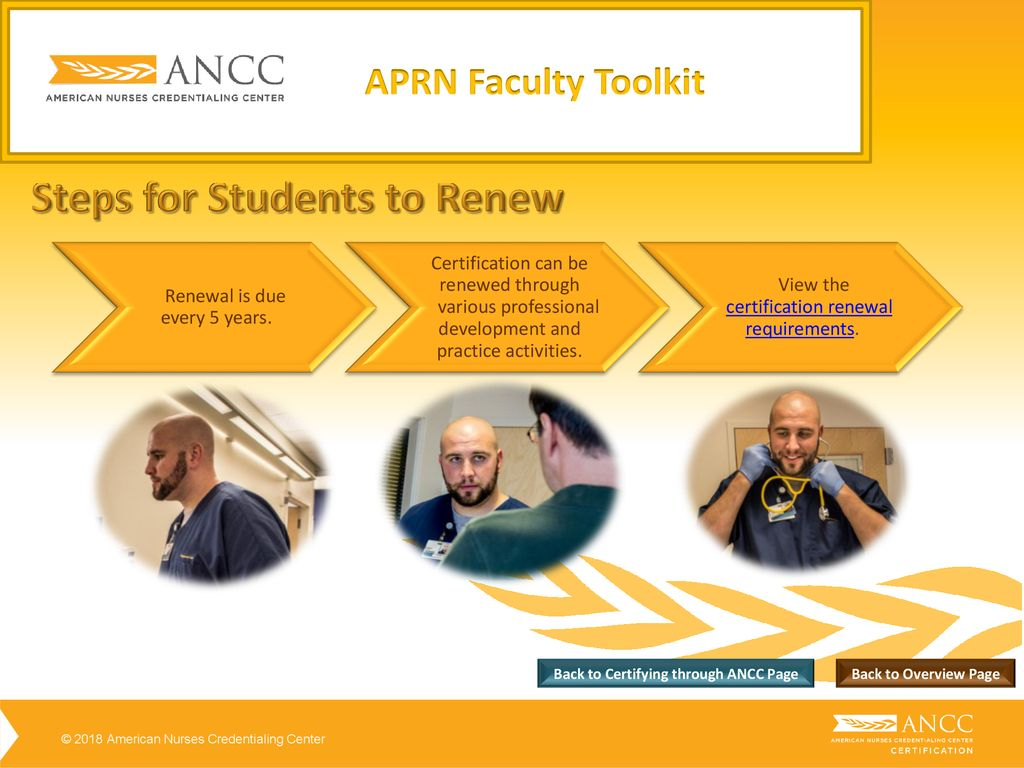 APRN Faculty Tool Kit ANCC Certification Overview - ppt download
