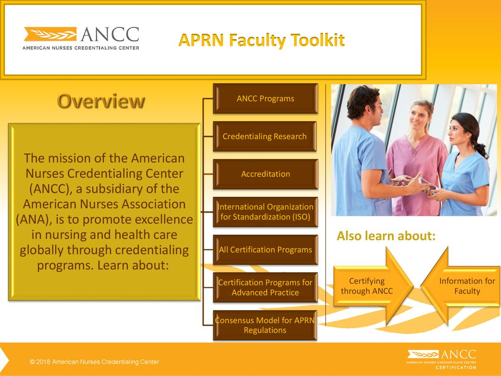 Aprn Faculty Tool Kit Ancc Certification Overview Ppt Download