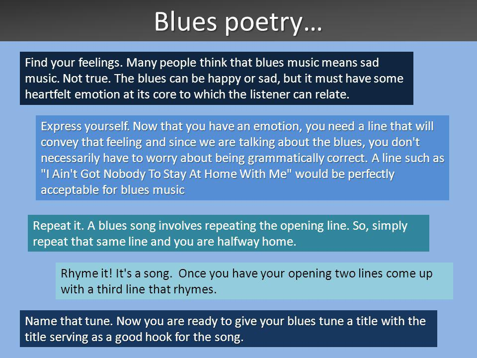 Blues poetry…