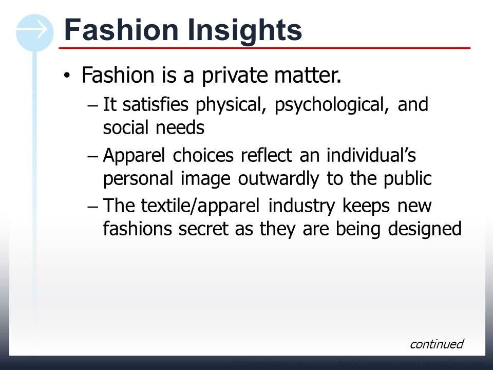 Fashion Insights Fashion is a private matter.