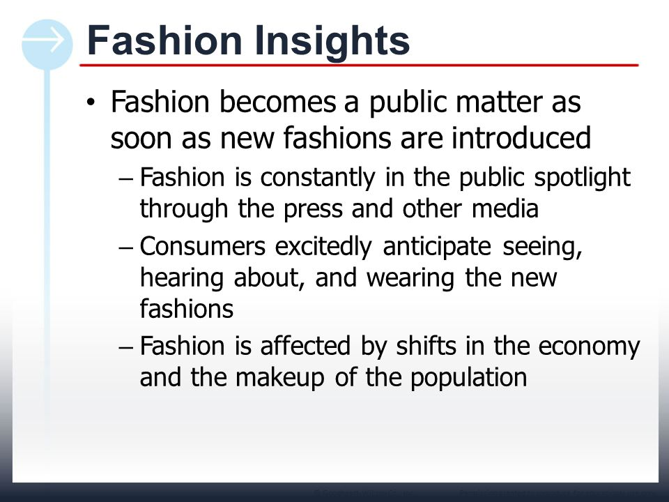 Chapter 1 Fashion Insights. Fashion becomes a public matter as soon as new fashions are introduced.