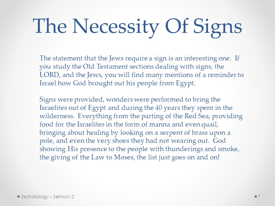The Necessity Of Signs