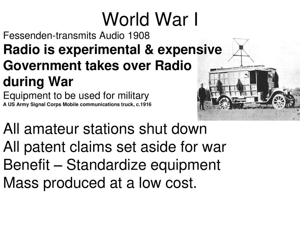 Radio & TV History Unit One - ppt download