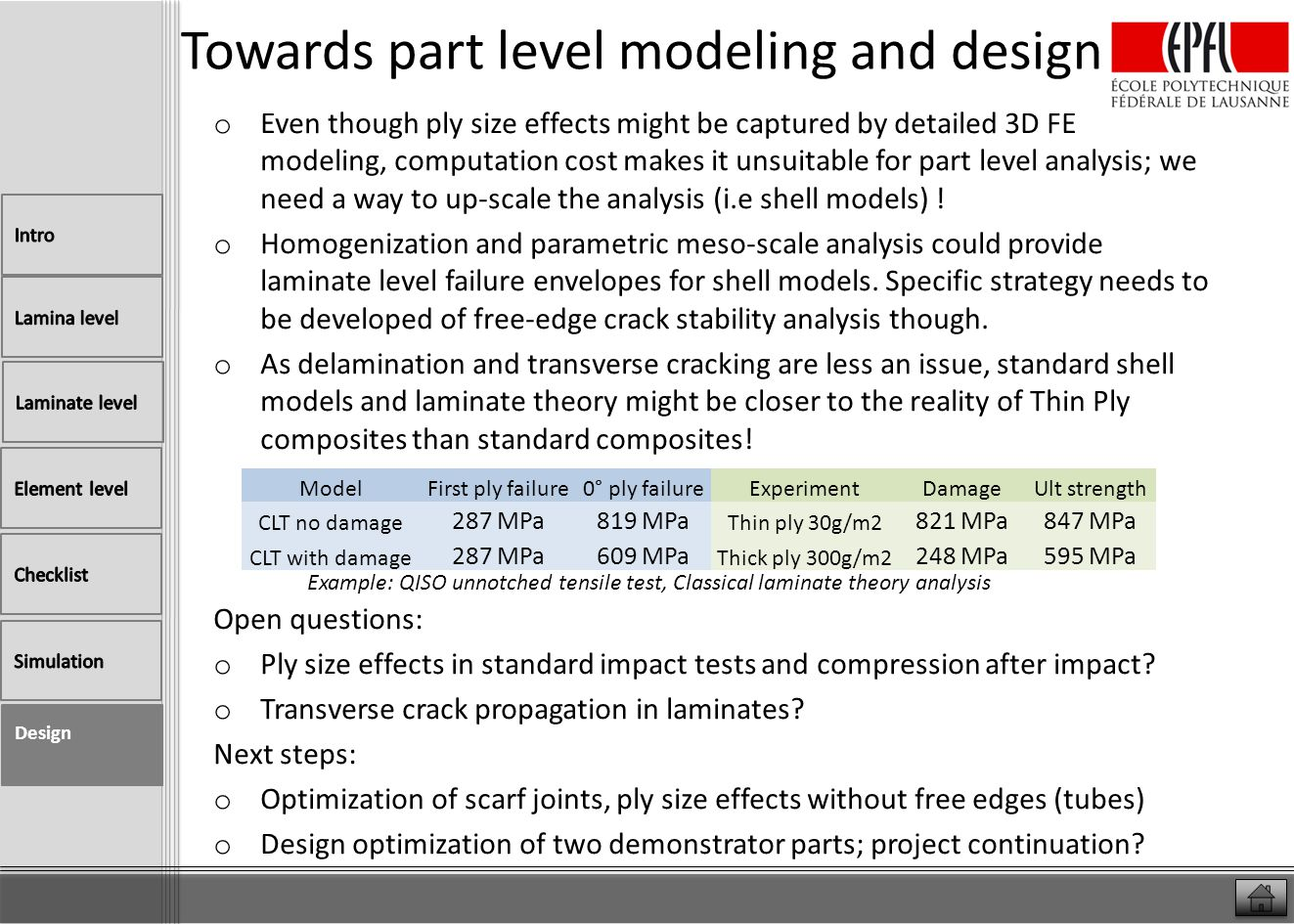 Towards part level modeling and design