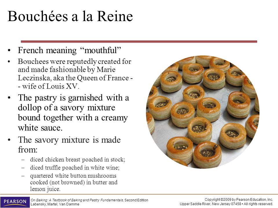 Bouchées a la Reine French meaning mouthful