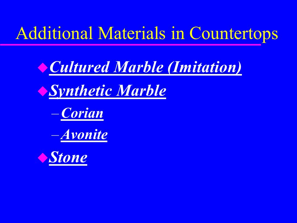 Additional Materials in Countertops