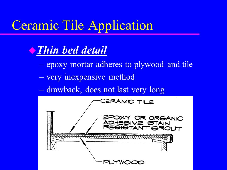 Ceramic Tile Application