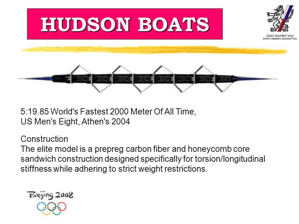 HUDSON BOATS 5:19.85 World s Fastest 2000 Meter Of All Time,