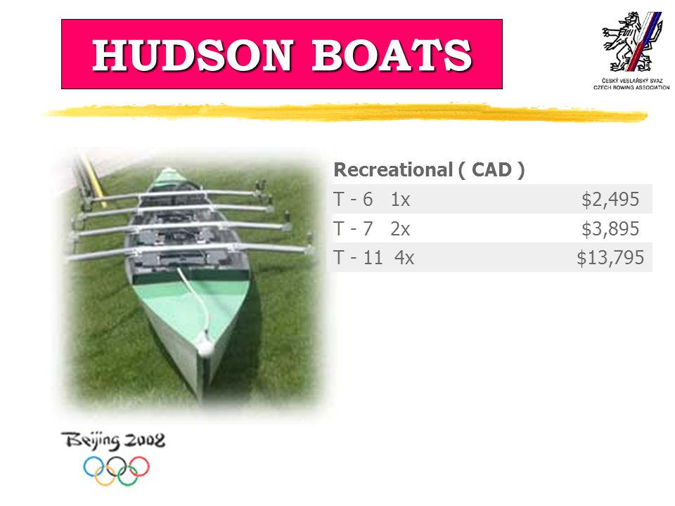 HUDSON BOATS Recreational ( CAD ) T - 6 1x $2,495 T - 7 2x $3,895