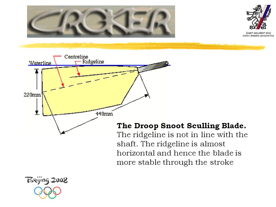The Droop Snoot Sculling Blade.