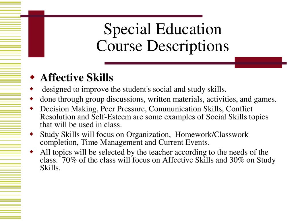 Eight Special Education Communication >> Brookwood High School Special Education Department Ppt Download