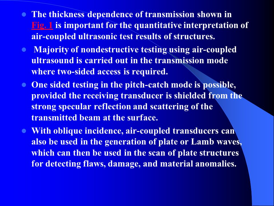 The thickness dependence of transmission shown in Fig