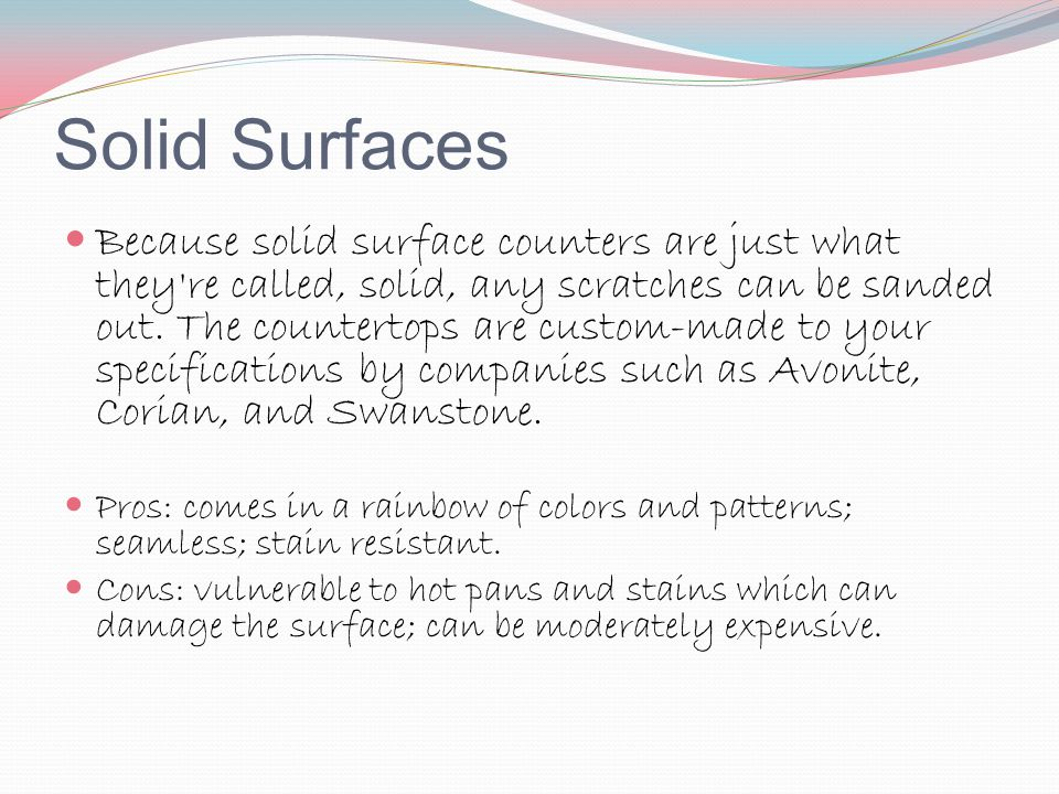 Solid Surfaces