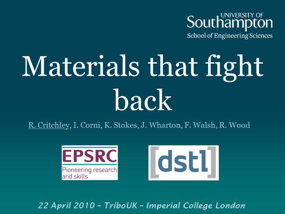 Materials that fight back