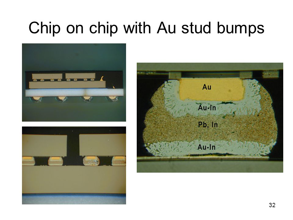 Chip on chip with Au stud bumps