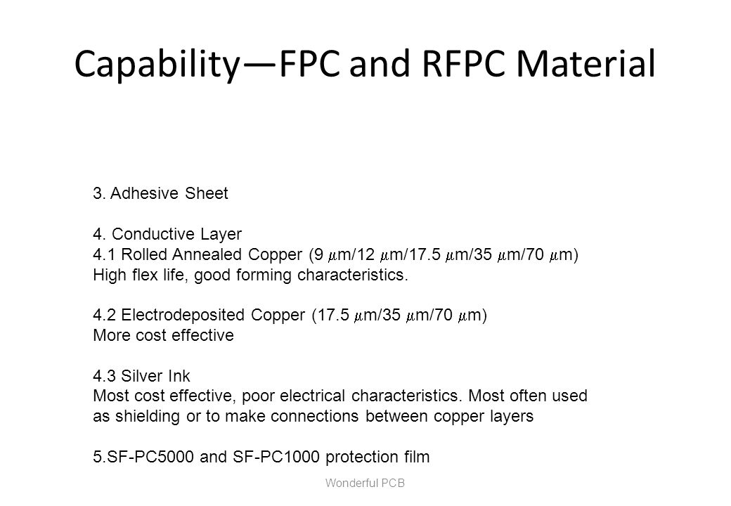 Capability—FPC and RFPC Material