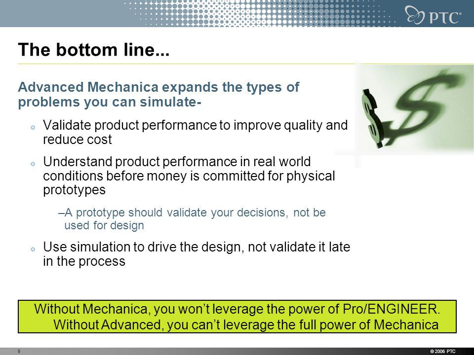 The bottom line... Advanced Mechanica expands the types of problems you can simulate-