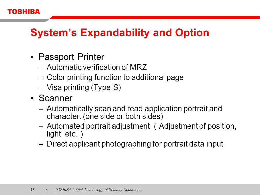 System's Expandability and Option
