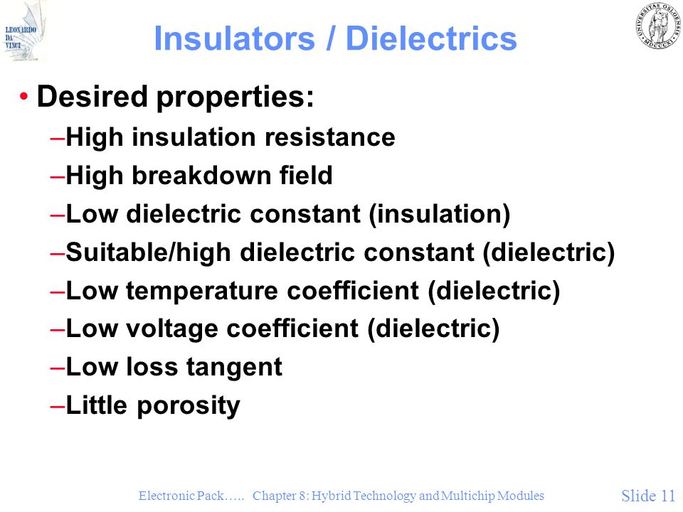 Insulators / Dielectrics
