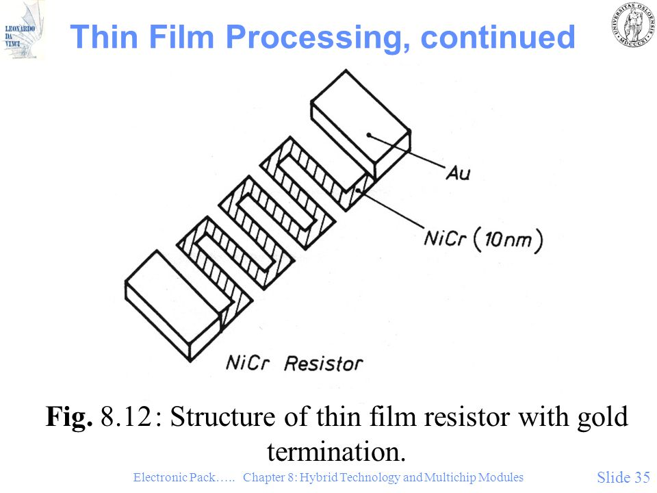 Thin Film Processing, continued