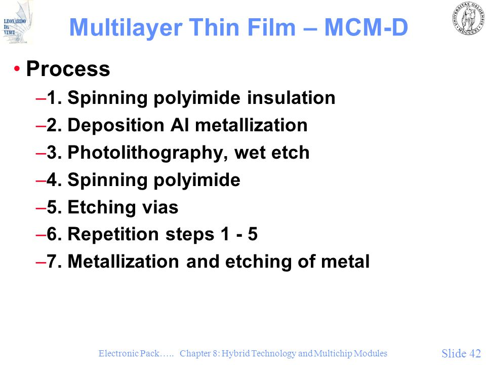 Multilayer Thin Film – MCM-D