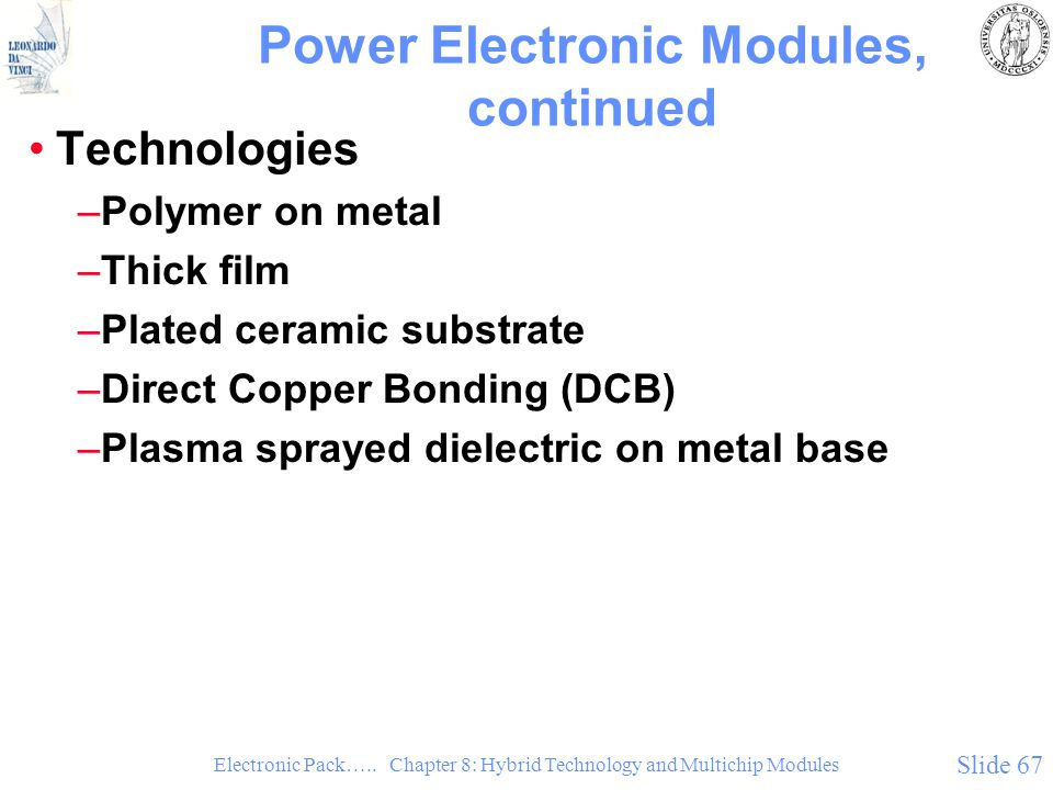 Power Electronic Modules, continued