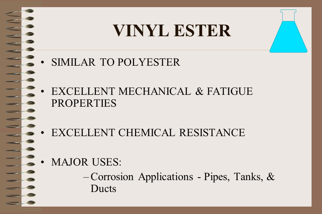 VINYL ESTER SIMILAR TO POLYESTER