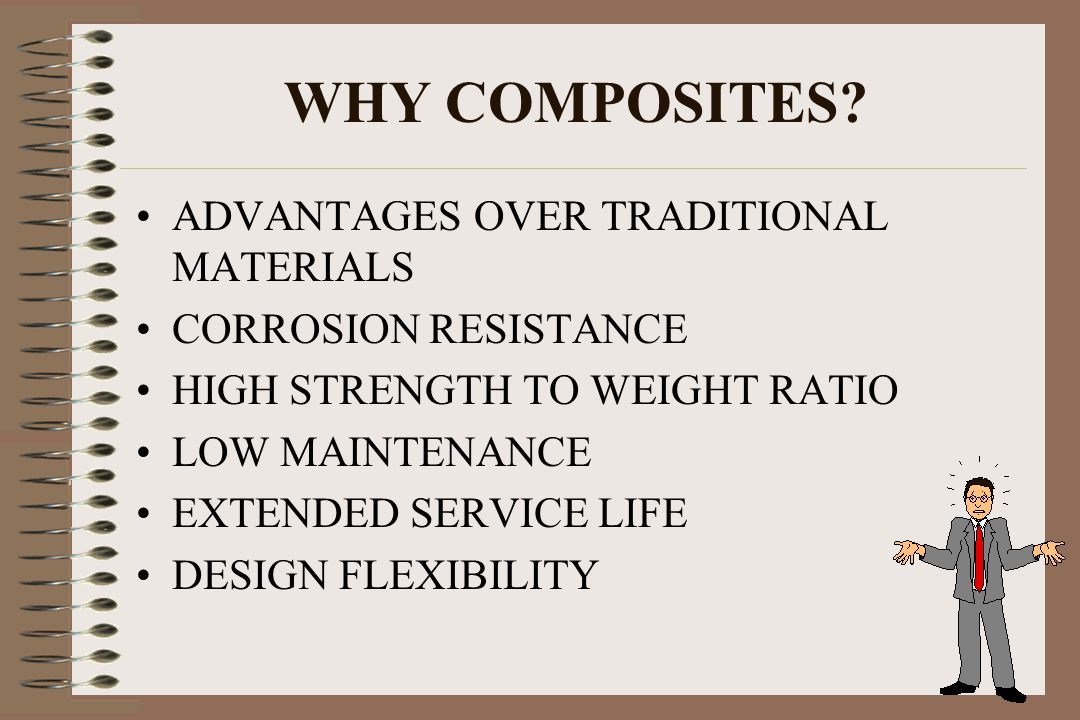 WHY COMPOSITES ADVANTAGES OVER TRADITIONAL MATERIALS