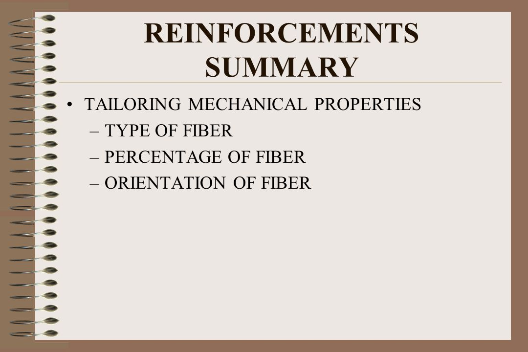 REINFORCEMENTS SUMMARY