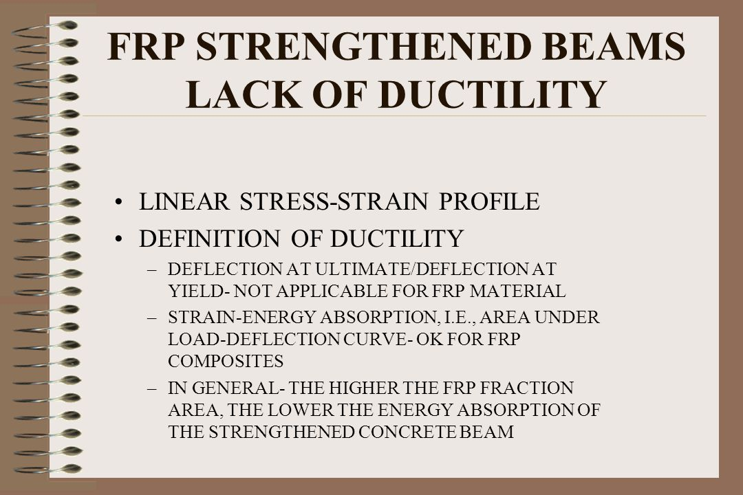 FRP STRENGTHENED BEAMS LACK OF DUCTILITY