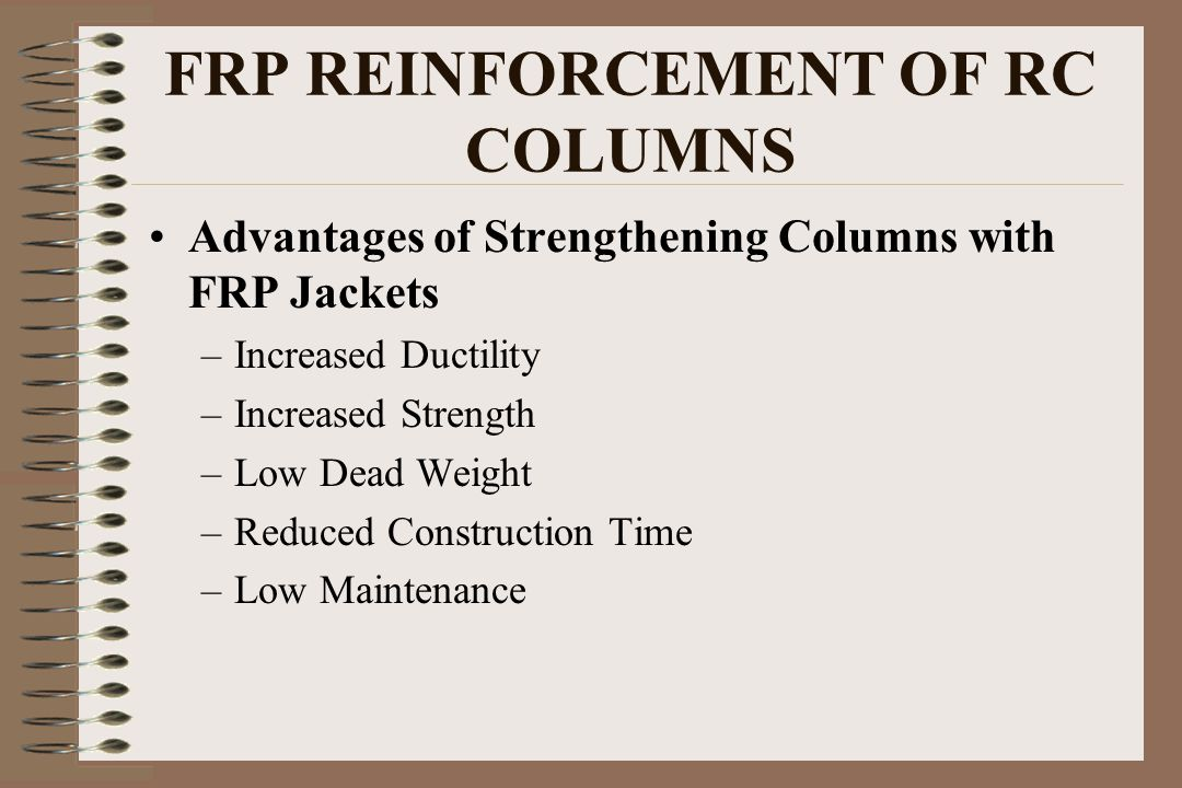 FRP REINFORCEMENT OF RC COLUMNS